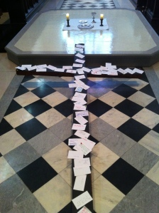 praying with the cross